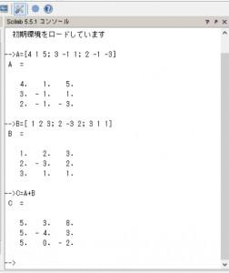 行列の和の計算
